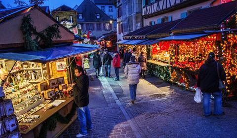 Weihnacht fahrt ab Freiburg